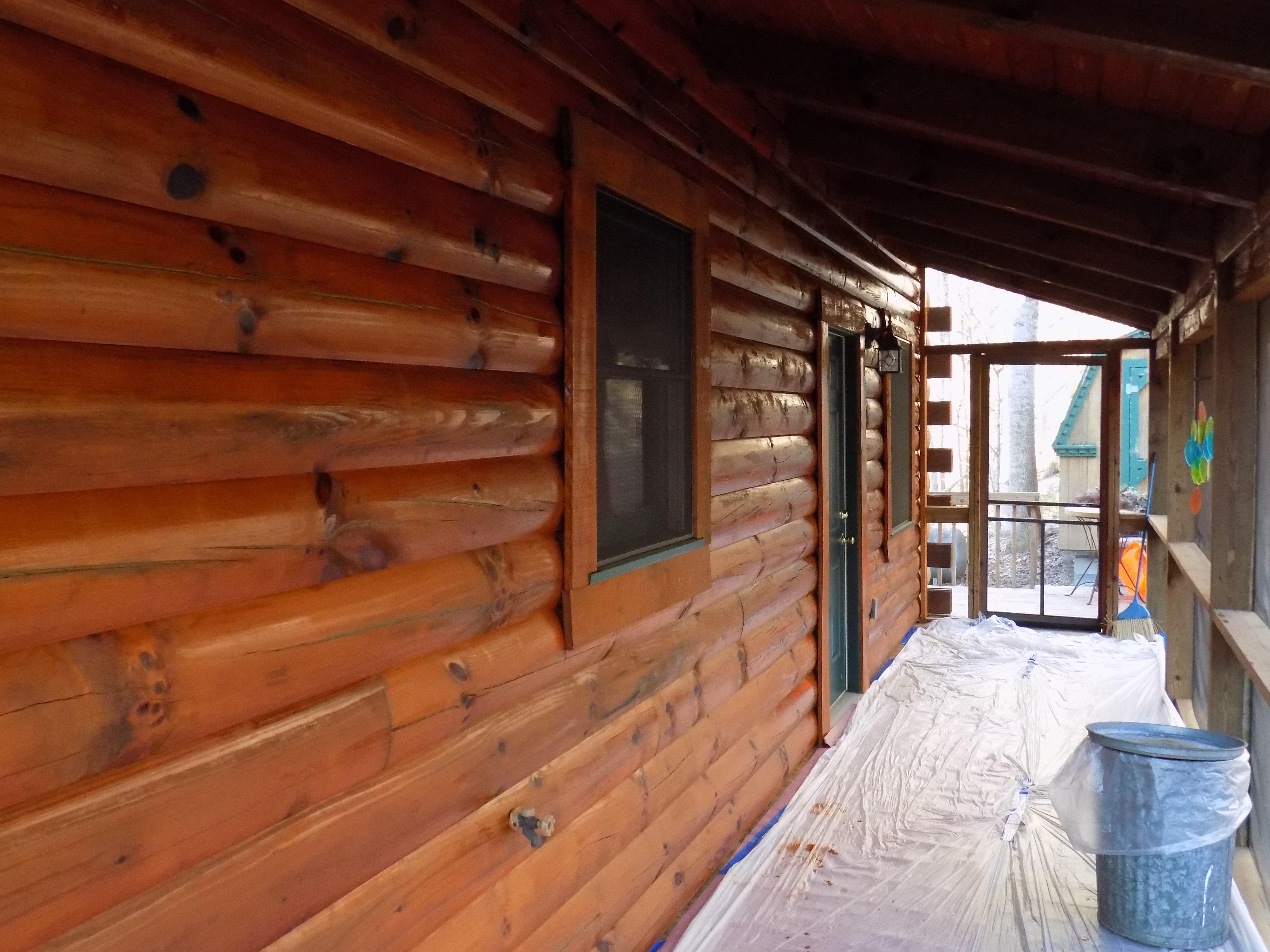 Log Home Maintenance: Sikkens Staining
