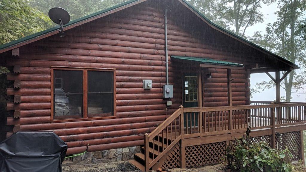 Log Cabin Care: Staining, Media Blasting, & Maintenance